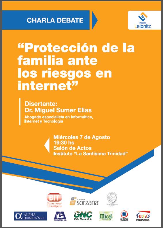 Conferencia: Proteccion de la familia ante los riesgos de Internet