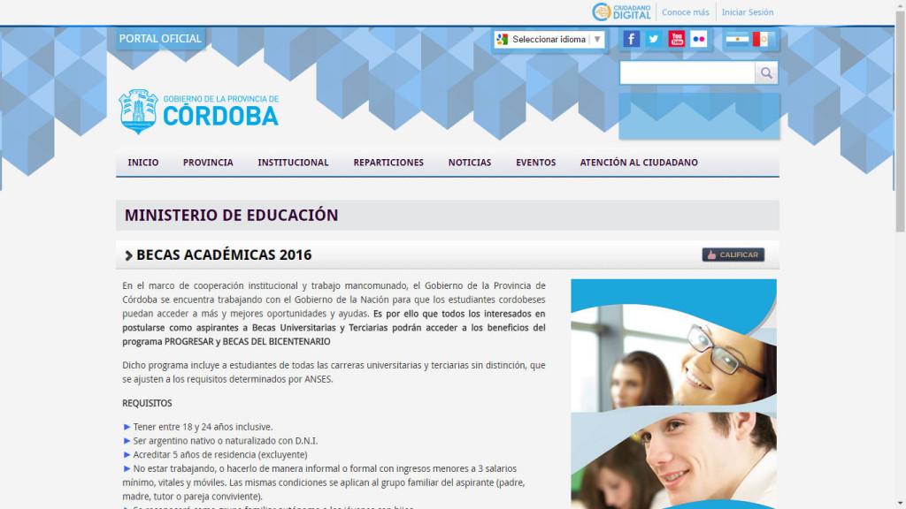 Becas Academicas 2016
