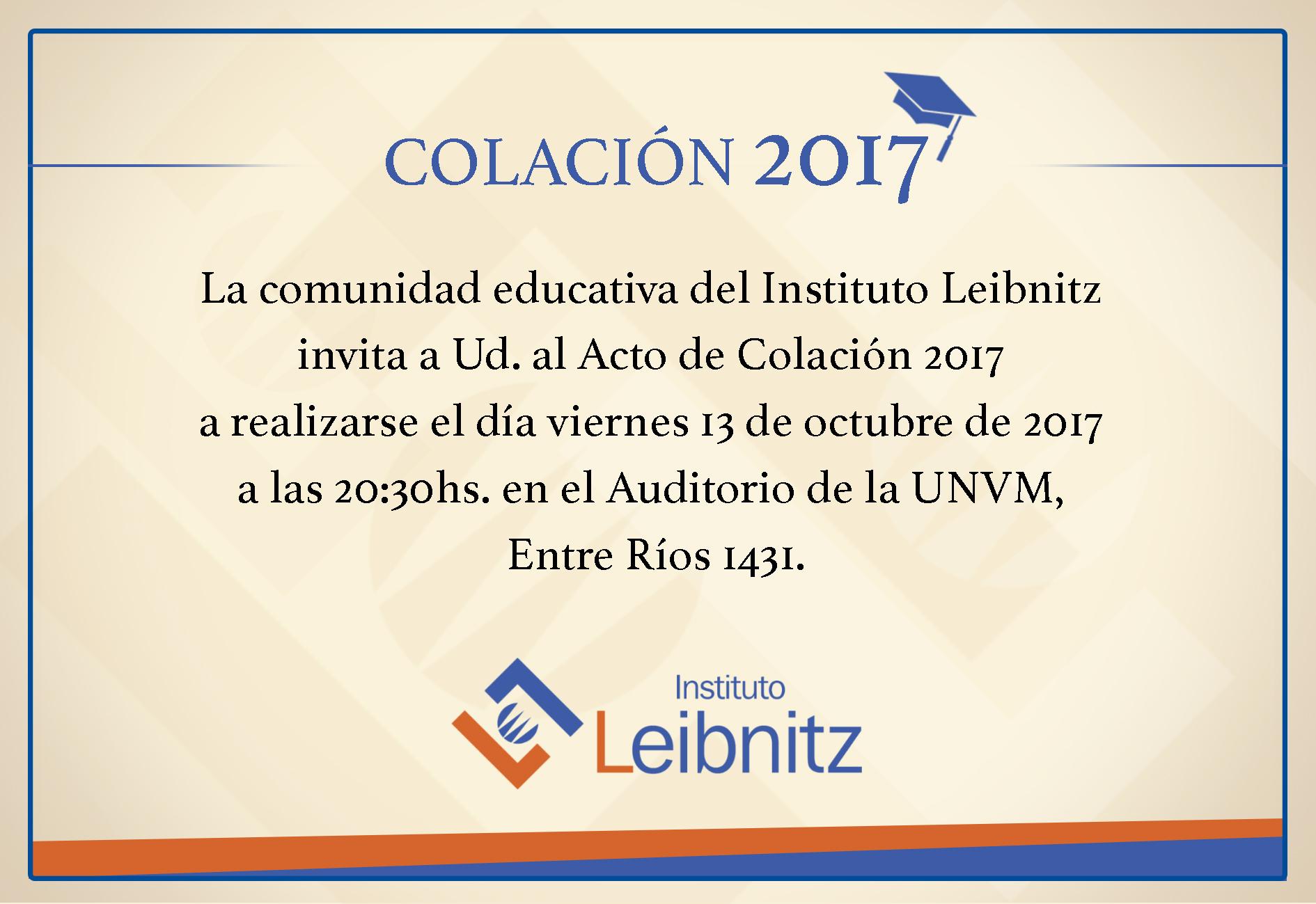 Tarjeta Colacion Leibnitz